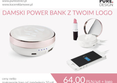 Damski power bank z lusterkiem
