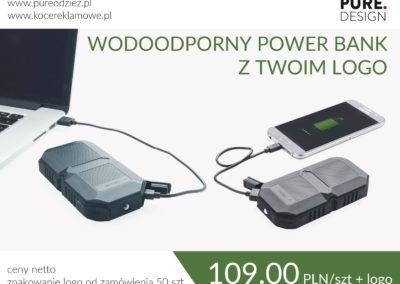 Wodoodporny power bank