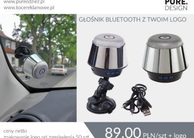 Glosnik bluetooth z gumową przyssawka