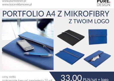 Portfolio A4 z mikrofibry